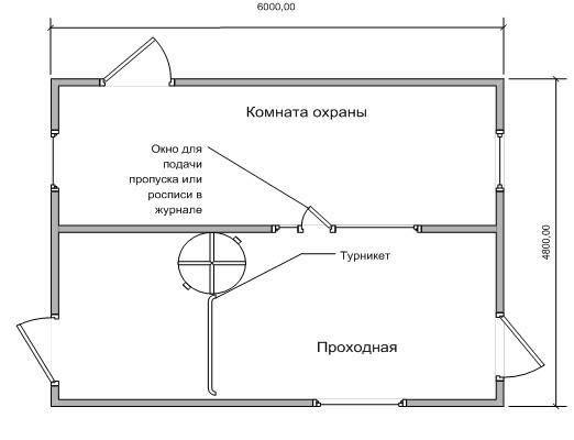 Схема поста охраны чертежи
